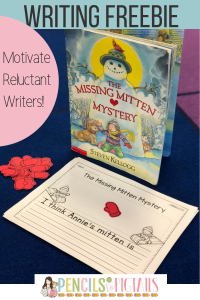 Missing Mitten Mystery Free Writing Activity