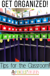 Classroom Organization Tips - Tubs for Centers