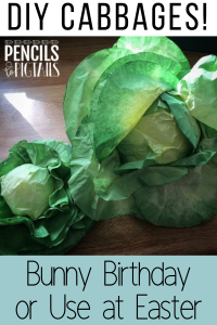 DIY Cabbage Leaves made from Coffee Filters and Paint
