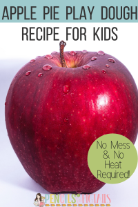 No Mess and No Heat Apple Pie Play Dough Recipe