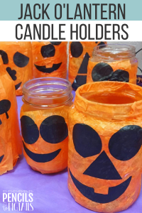 DIY Easy Jack O' Lantern Candle Holders Craft