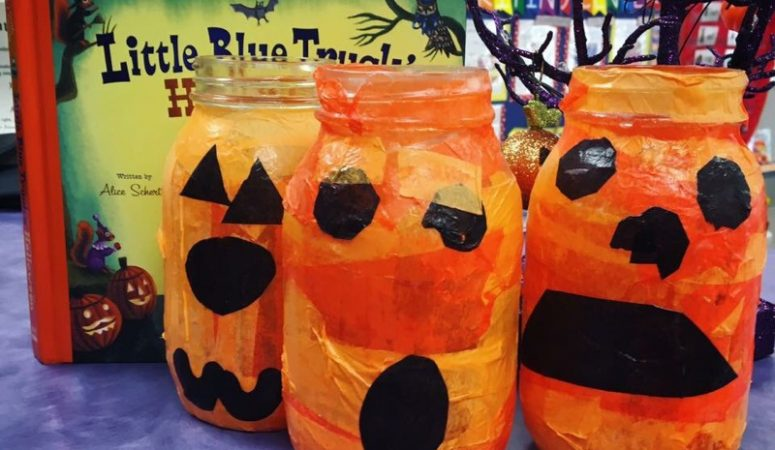Easy Jack-O'-Lantern Candle Holders