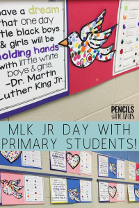 MLK Jr Day Crafts for Preschool, Kindergarten, or First Grade Students
