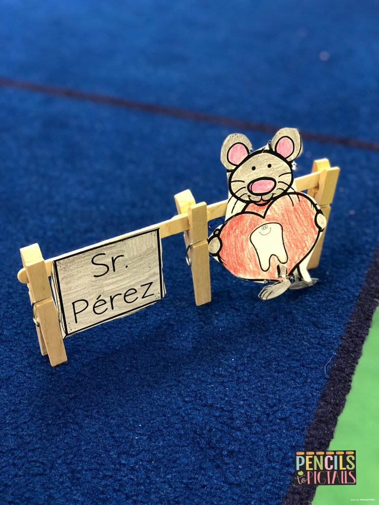 El Ráton Pérez's STEM activity from Pencils to Pigtails TPT store