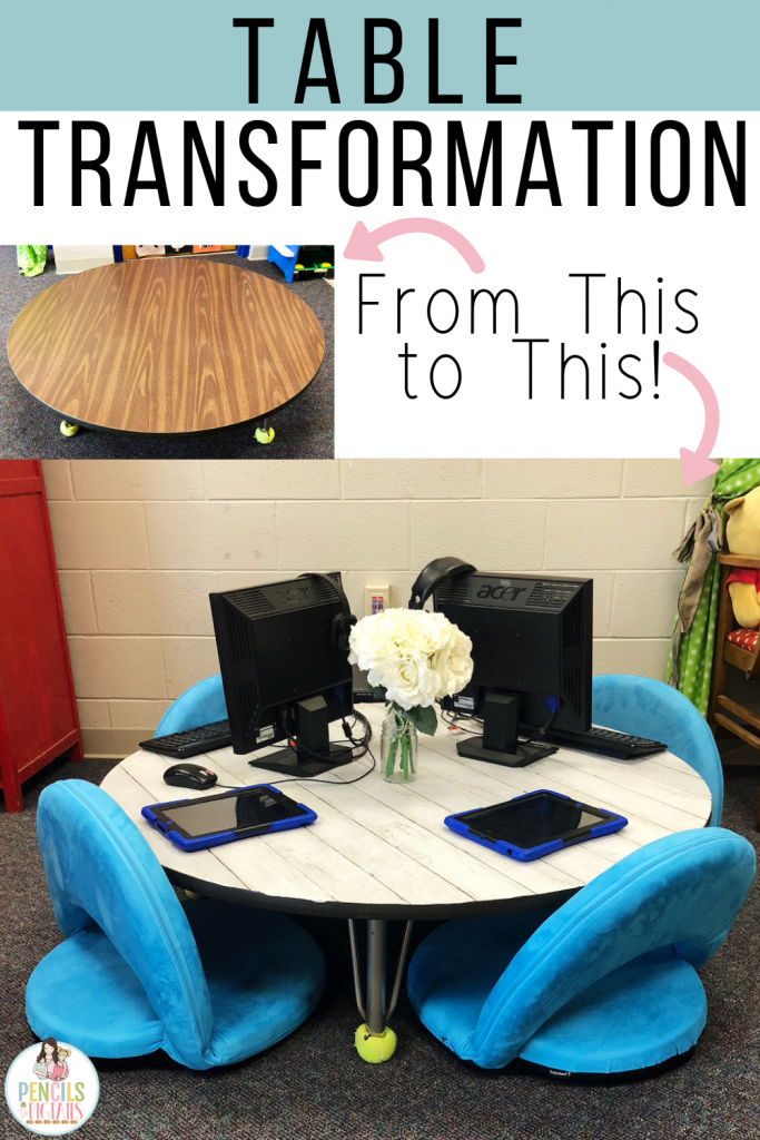 Easy Classroom Table Transformation