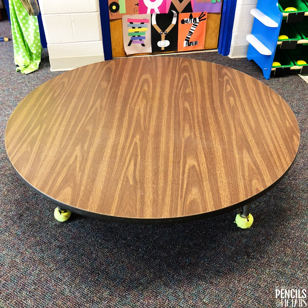 Before the Easy Classroom Table Transformation