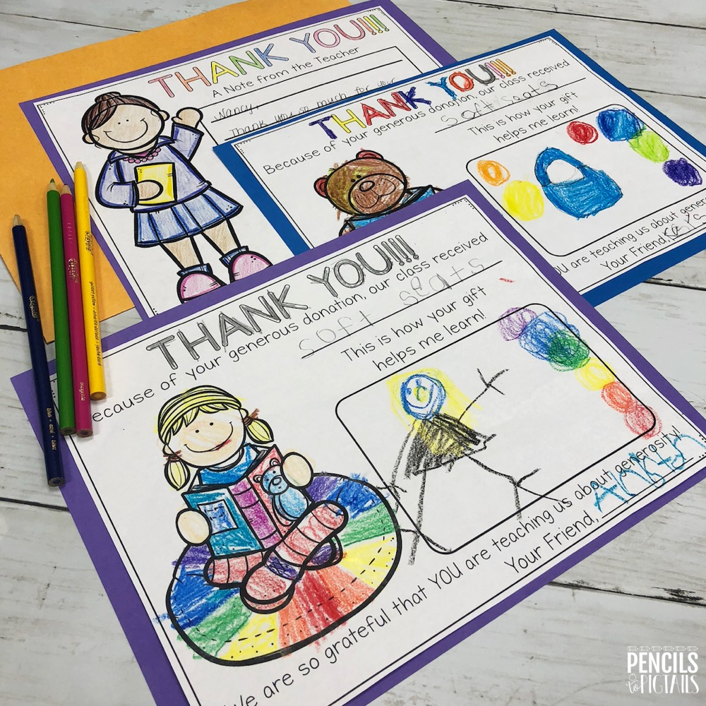 Free Items for Your Classroom - Thank You Letters for Donor's Choose Projects