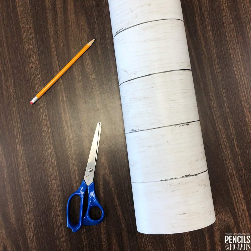 Contact Paper for Table Makeover