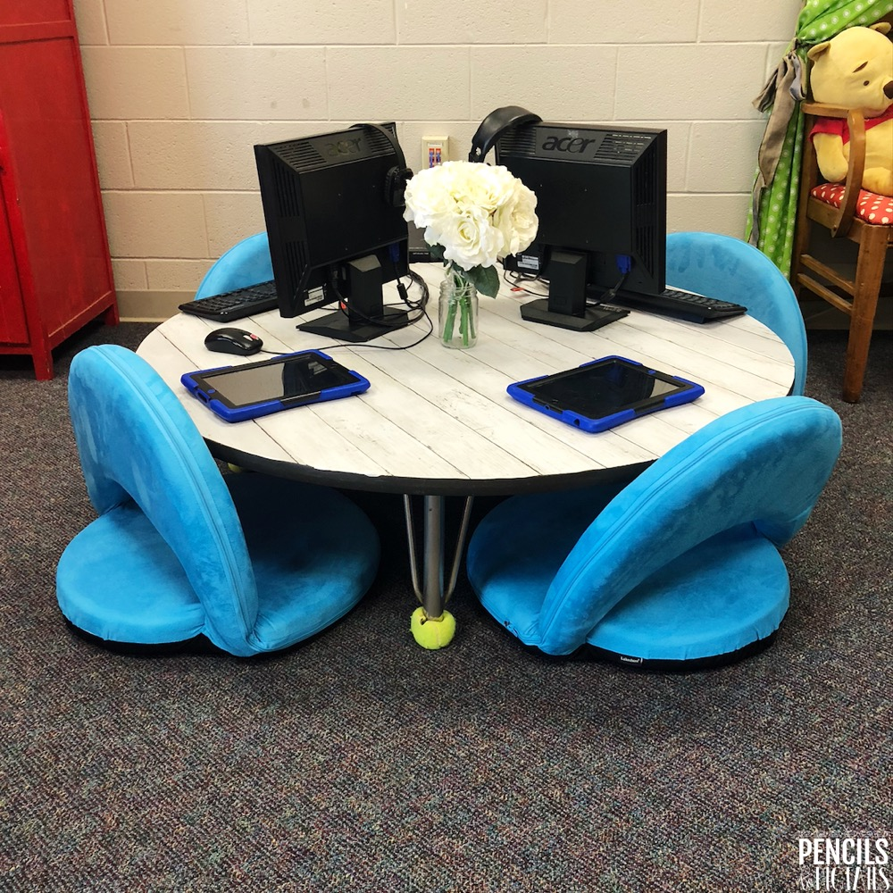 Classroom Table Makeover After Picture