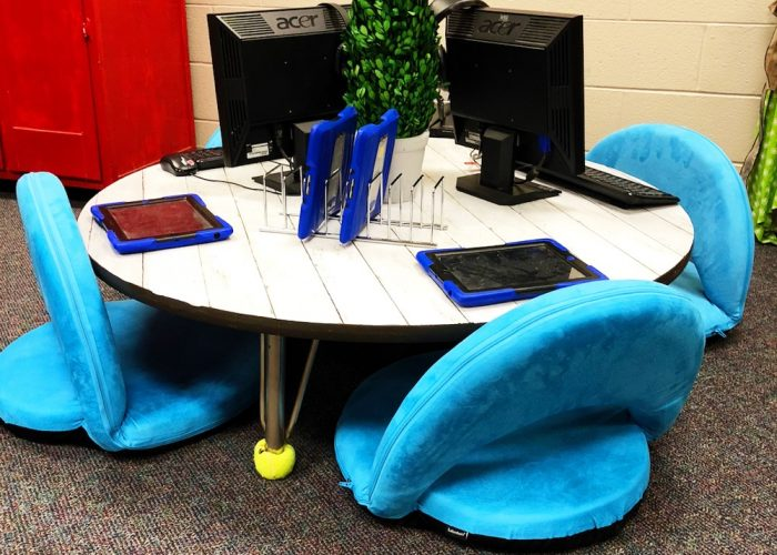 Ipad Storage on Classroom Table