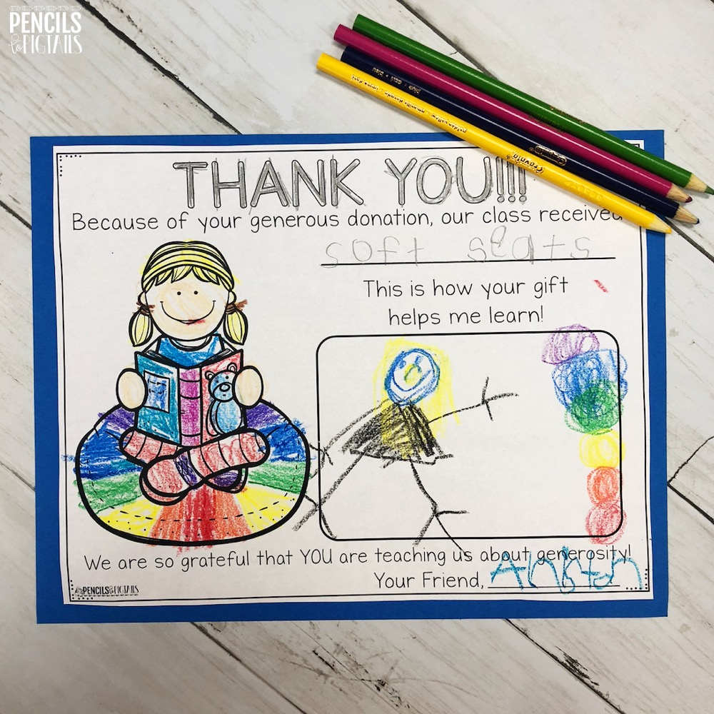 Thank You Letters for Donor's Choose or other donors