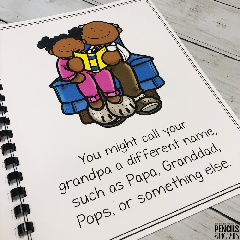 Grandparents Day Book by Pencils to Pigtails