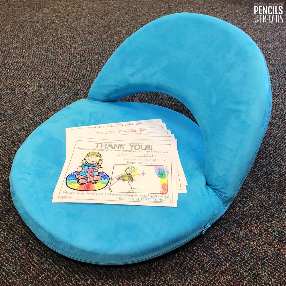 Free Items for Your Classroom - Flex Chairs and Donor's Choose Thank You Notes
