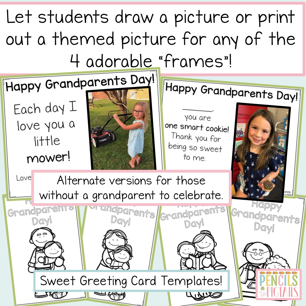 Grandparents Day Resource by Pencils to Pigtails