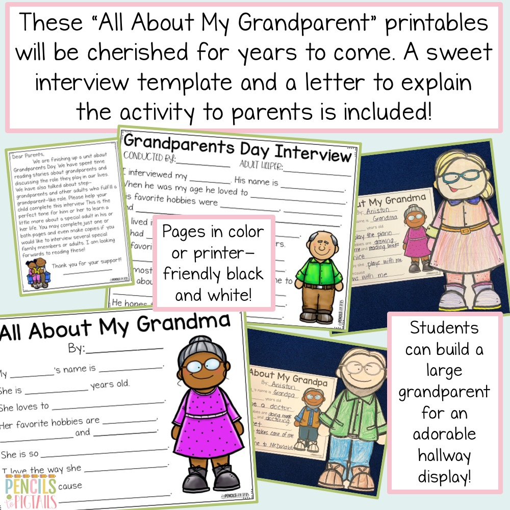 Grandparents Day Unit by Pencils to Pigtails