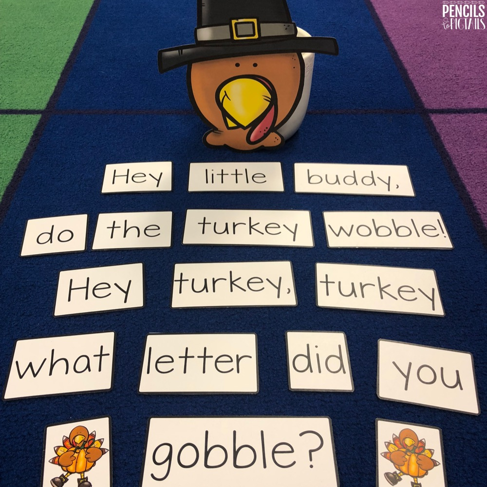 Free Turkey Wobble Game to practice Letter Recognition and Sounds