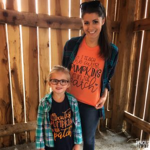 Matching Pumpkin Shirts