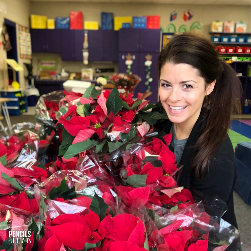 Poinsettias to teach about kindness!