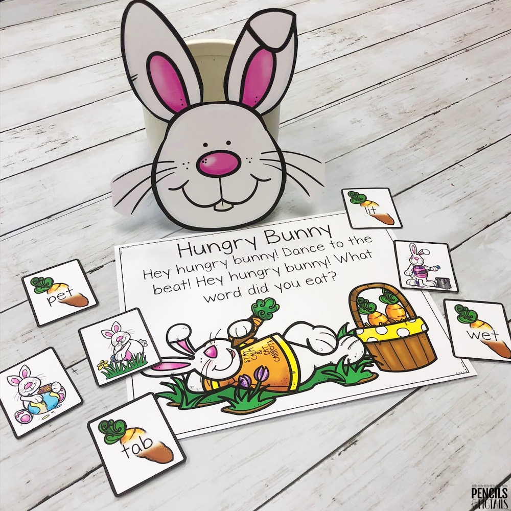 Hungry Bunny Pick a Card Game by Pencils to Pigtails