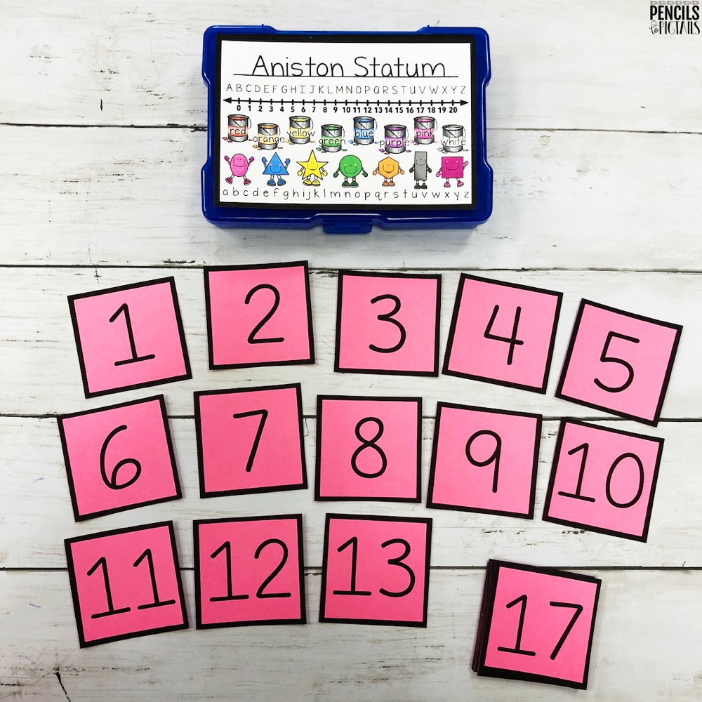 Differentiated Task Boxes for Number Order