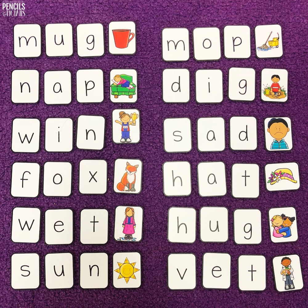 Free CVC and CCVC Word Building Cards