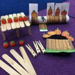 Five Little Pumpkins Paper Towel Roll Craft, STEM Challenge, Retell Glove, and More Activities for Kindergarten or Preschool Students